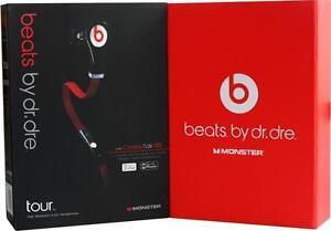 Beats TOUR ,HEADPHONES BLACK ,WHITE SEALED BOX