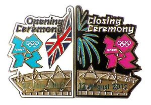 London 2012 Olympics Opening & Closing Ceremonies Pin Set - Oversized