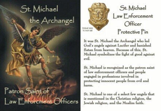St Michael The Archangel Patron Saint of Law Enforcement 8x12 Inch Aluminum Sign