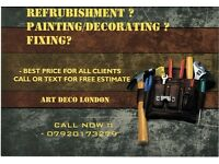 PAINTERS DECORATORS / REFRUBISHMENT ALL LONDON