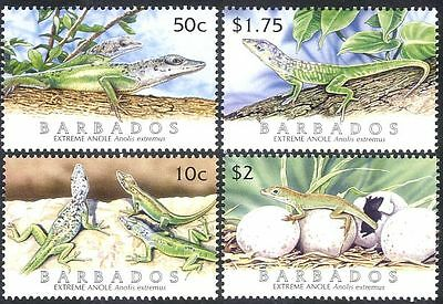 Barbados 2005 Lizards/Extreme Anole/Iguana/Reptiles/Animals/Nature 4v set n15299
