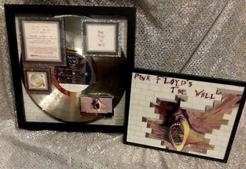 """PINK FLOYD   """"The Wall""""  Platinum LP Award  1999 Vintage Certified 23X With Icon"""