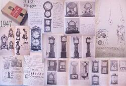 Am.CLOCK+Mkr:HISTORY WOOD CABINET pendulum grandfather case//fake making repair