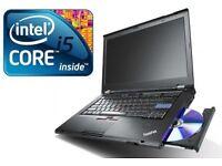 """LENOVO T410 14.1"""" Laptop - 8GB RAM 128 SSD 1ST GEN Wireless DVD Warranty"""