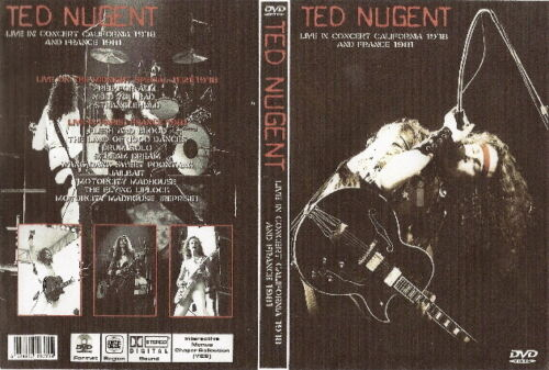 ted nugent live in california 1978 & france 1981 dvd ozzy dio damn yankees