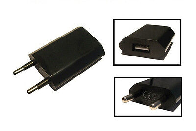 Universal USB Adapter Netzteil Ladegerät für iPhone iPod Galaxy Lumia Huawei LG Schwarz Ipod Netzteil