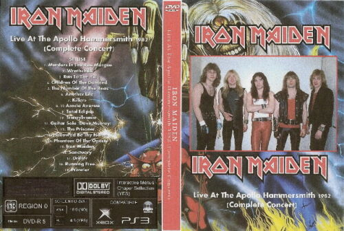 iron maiden live at the hammersmith apollo dvd 1982 complete show clive burr
