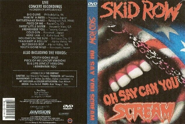 skid row oh say you can scream dvd 1989 ozzy whitesnake dio