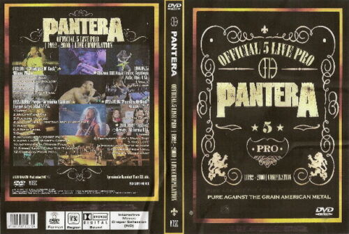 pantera official 5 live pro 1992-2000 compilation dvd metallica slayer
