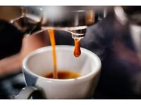 Barista wanted, full time/part time, daytime hrs, Sundays off, competitive pay