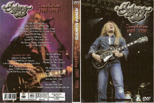 john sykes compilation dvd 1989-1999 scorpions whitesnake blue murder
