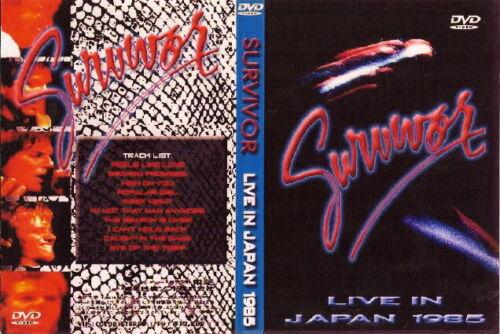 survivor live in japan dvd 1985 & the videos whitesnake ozzy dio loverboy