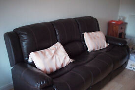 leather sofa 3 seater excellent condition