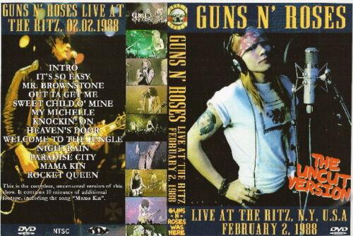 guns n roses live at the ritz dvd 1988 uncut version slash ozzy dangerous toys