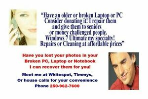 WANT TO RESCUE YOUR PHOTOS FROM YOUR BROKEN PC, LAPTOP, NOTEBOOK