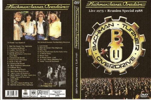 bachman turner & overdrive bto live 1976 & reunion 1988 dvd foghat kansas