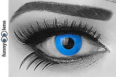 Farbige Kontaktlinsen Sky Blue blaue Linsen große Augen Halloween Fasching Party