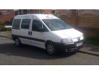 2006 Peugeot Expert e7 hackney spec taxi bus black cab minibus wheelchair accessible in white