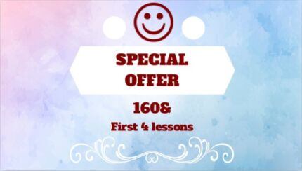Driving school 160$ first 4 lessons