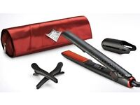 GHD's red and black, hardly used (like new)