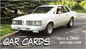 CAR CARDS is at the MSRA toy run Sun.( last show of the season)