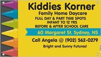Licensed & approved home daycare