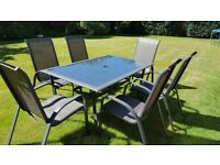 Garden glass table and chair set