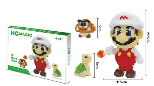 Bausteine Anime Grün Mary Serie Spielzeug Baukästen Modell Microblock Geschenk