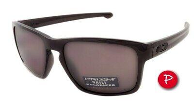 Oakley Sliver POLARIZED Sunglasses OO9262-07 Polished Black Frame W/ Prizm Daily
