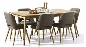 NEW - 2100L x 1000W Solid Timber Dining Table in Natural Oak Lidcombe Auburn Area Preview