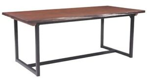 INDUSTRIAL WOODEN TOP DINING TABLE AND CHAIR SET - on special