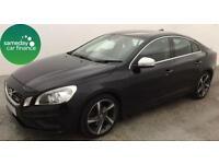 £153.17 PER MONTH BLACK 2011 VOLVO S60 1.6 DRIVE DESIGN SALOON DIESEL MANUAL