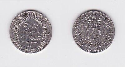 25 Pfennig Nickel Münze Deutsches Reich 1912 A  (122907)