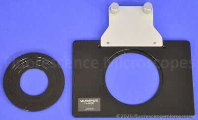 Olympus Ix-hop Stage Adapter Plate Petri Dish Holder With Insert For Microscope