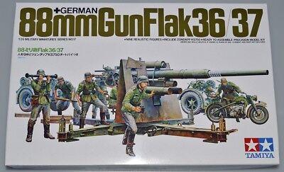 TAMIYA 35017 - 1/35 DEUTSCHE 88mm FLAK 36/37 & ZÜNDAPP KS750 - WEHRMACHT - NEU