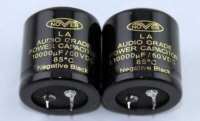 2pcs Nover 10000uf 50v 85c La Audio Crade Power Capacitor 3045mm