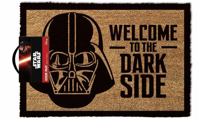 Official Licensed Star Wars Dark Side Doormat - 100% Coir Rubber Back Door Mat