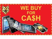 WE BUY SELL 4 CASH USED BROKEN LOCKED IPHONE LAPTOP APPLE IPAD MAC SAMSUNG S9 S8 S7 S6 STOCK WANTED