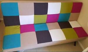 Checkered Sofa Bed from MIlan Direct used twice Gymea Sutherland Area Preview