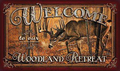 Deer Welcome Mat Doormat Wildlife Art also in Bear Moose Fish Lure camo 1860 on Rummage