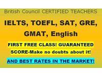 UK's best IELTS, SAT, TOEFL. Money back promise and certified teachers/tutors: £19-£23 per hour