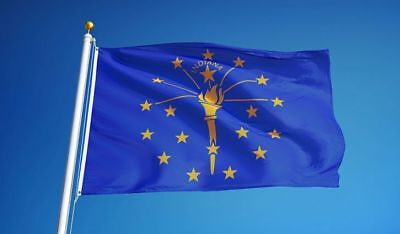 Indiana State Polyester Flag - INDIANA STATE FLAG new superior quality 3x5ft size fade resist flag us seller