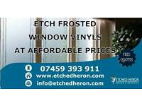 Signs, displays, fitter, installer, vinyl, decorator, windows, blinds, etched glass, frosted, frost,