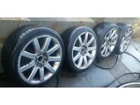 "18"" Audi RS4 ALLOYS 5x100 and 5x112 PCD...FIT Audi A3 A4 A6 TT VW Golf Bora Polo Seat Skoda VRS"