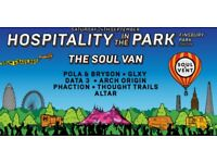 x2 Hospitality In The Park Tickets