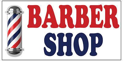 BARBER SHOP haircut Vinyl Banner advertising Sign. Full color 2x4 ft, 2x6, 3x10