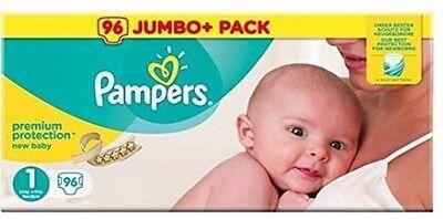 Baby Pampers Premium Protection Baby Größe 1 Newborn 2-5 kg 96 Windeln in Box