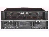 Details about INTER M QD-4480 QD4480 4 CHANNEL POWER AMPLIFIER , PA, DISCO, MUSICAL KIT