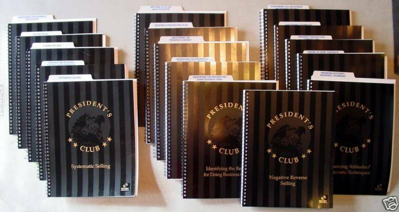 Sandler President's Club Sales Training 17 CD + Manuals - $ SELL YOURSELF RICH $