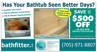 Get your old tub covered in as little as one day